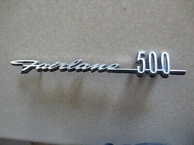 Original Ford Fairlane 500 car badge