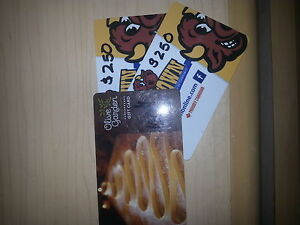 2 Cow Town Gift Cards 1 Olive Garden Gift Card
