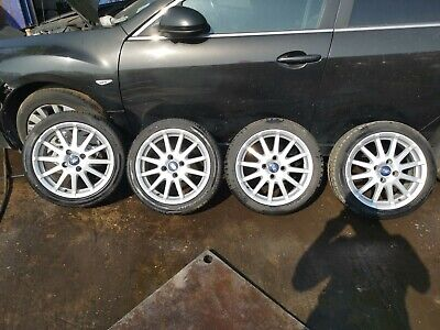 "GENUINE FORD FIESTA ZETEC S MK6 MK7 16"" BORBET ALLOY WHEEL SET 4X108 4S6J1007AA"