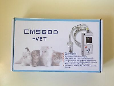 Veterinary Pulse Oximeter Cms60d-vetear Tongue Spo2 Probepc Software