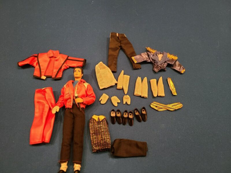 vintage michael jackson doll beat it with extra outfits