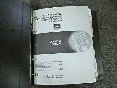 John Deere 310se 315se Backhoe Loader Shop Service Repair Manual Tm1609