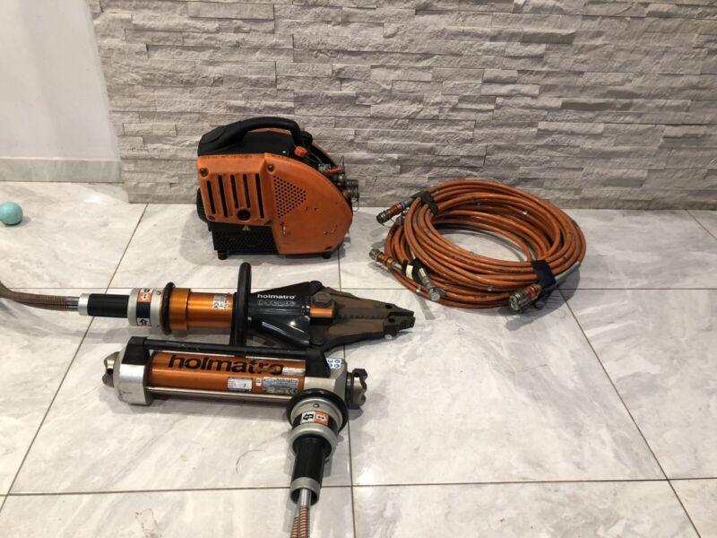 Holmatro TPU15 Generator Plus Holmatro CT3150+ Spreader; TR3350 Ram & Hoses
