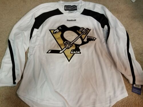 PITTSBURGH PENGUINS White Gold NEW Reebok Pro Light Weight Practice Jersey Large