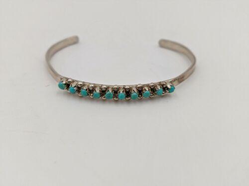Vintage Zuni single row snake eye petit point bracelet petite size, small size