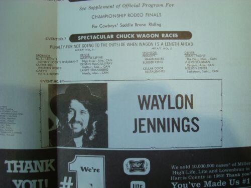 Houston Astrodome~1981 Livestock Show & Rodeo Program/WAYLON JENNINGS