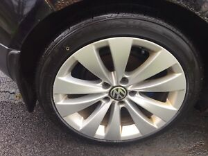"17"" vw alloys with new tires"