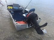 3.4 meter aluminium boat 18 hp motor with electric start Dalby Dalby Area Preview
