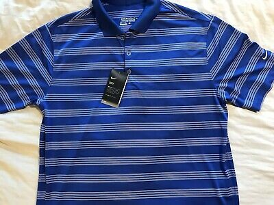 6c8bee0f4cde NEW NIKE TOUR PERFORMANCE UV DRI FIT POLO SHORT SLEEVED GOLF SHIRT MENS L   59