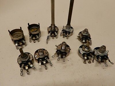 Potentiometer Lot Of 8 Various Values Most Nos