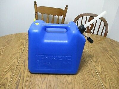Old School Blitz 5 Gal Gallon Plastic Vented Kerosene Fuel Can Jug Gas Can