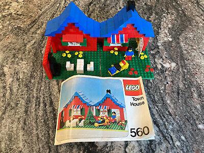 LEGO Vintage Set: TOWN HOUSE #560 1979 Rare. Includes Minifigures