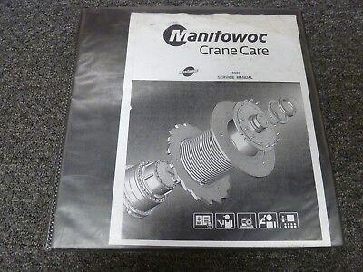 Manitowoc Model 18000 Lattice Boom Crawler Crane Shop Service Repair Manual