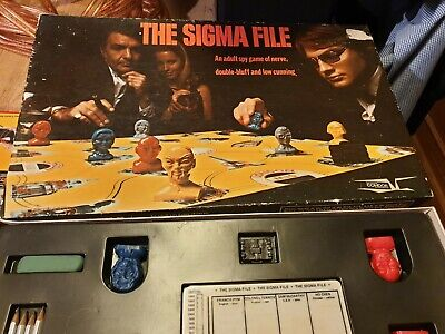 The Sigma File Spy board game by 'Condor Games' 1973 complete (Spy Sigma)