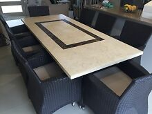 9 Piece Stone & Wicker Outdoor Dining Set Westmead Parramatta Area Preview