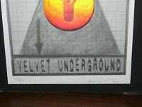 Velvet Underground European Tour 1993 Mini Poster Art Alex Copy 205 / 600 -  - ebay.it