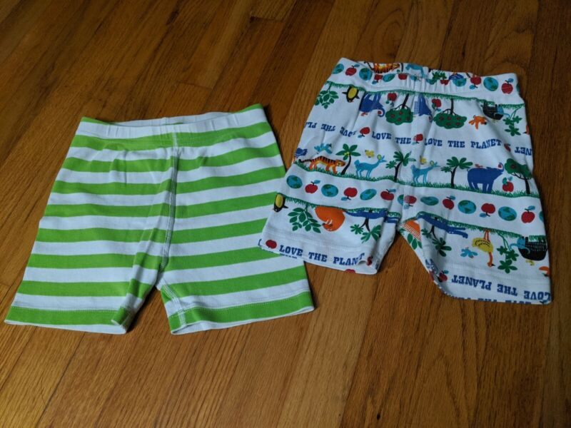 Hanna Andersson 120 6-7 Short Johns Summer Pajama bottoms SET striped planet