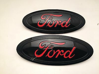 2018 FORD F-150 Black & RACE RED LOGO,Emblem SET