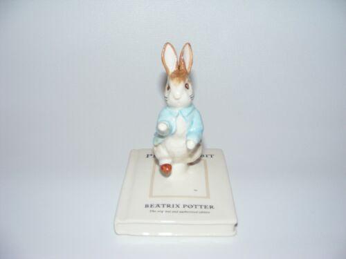 Beswick Beatrix Potter figurine 100th Anniversary PETER ON HIS BOOK