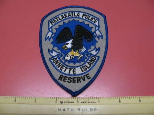 OLDER METLAKATLA  ALASKA POLICE DEPARTMENT COLORED  SHOULDER PATCH ~NICE~