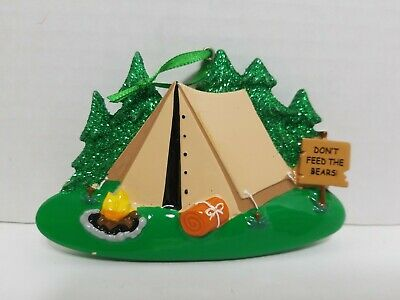 Camping Tent DON'T FEED THE BEARS! Polar X  Ornaments ](Camping Ornaments)