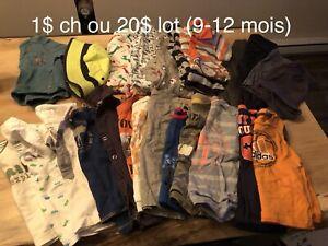 Vêtements bébé 9-12-18 mois