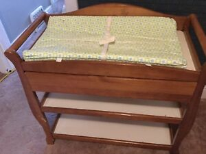 Used baby change table