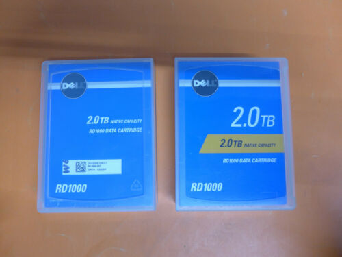 (LOT OF 2) Dell LTO Rd1000 Data Cartridge 2.0TB Native Capacity 28JDP