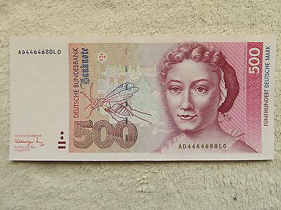 500 DM Schein Deutsche Mark