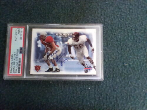 Brian Urlacher PSA/DNA authenticated Signed Rookie Card Bears HOF