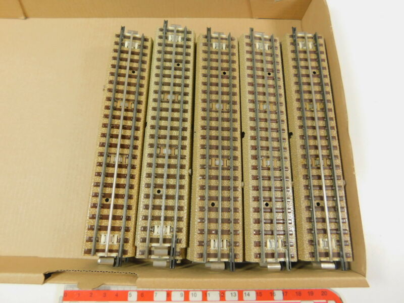 AR503-2 #25x Märklin H0/00 Track Piece Straight M 3600/800/Center Conductor.