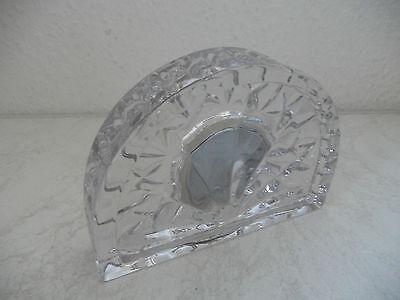 Hochwertiger Kristallglas Bilderrahmen mit Spieluhr WATERFORD Irland (B612)xx