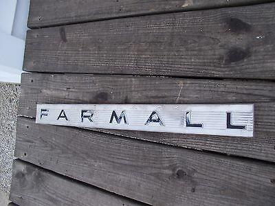 Farmall 340 Rowcrop Tractor Ih Chrome Hood Side Panel Emblem