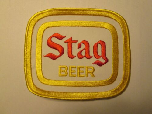 """NEW STAG BEER ADVERTISING UNIFORM PATCH APPROX 6"""" X 7"""""""