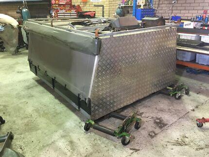 Custom Canvas/alluminium canopy with steel frame