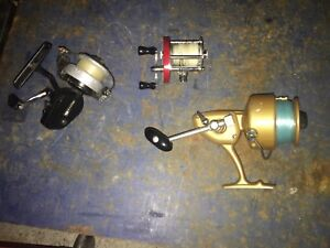 3 Vintage Fishing Reels/Usable Or Collection