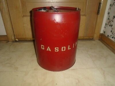 Vintage 5 Gallon Metal Gas Oil Gasoline Can Vintage Decor