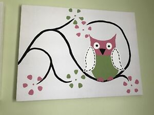 Owl / flower painting