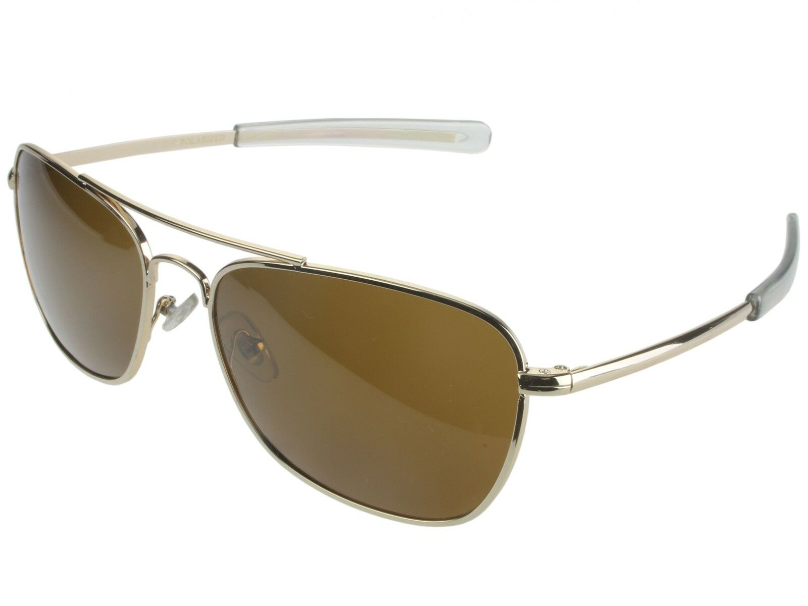 Pilot Details Square About Gold Temple Aviator Bayonet Polarized Sunglasses 8PwknO0
