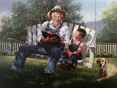 THE GOOD BOOK, Jack Sorenson, 12X16 Art Print, 100 Prints for $50.00