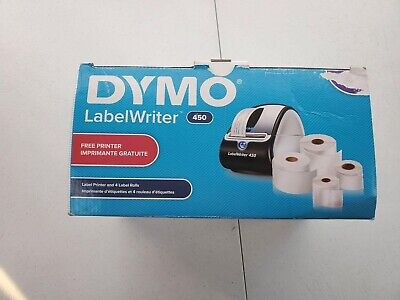 Dymo Black Silver Label Writer 450 Thermal Print Technology Free Label Printer