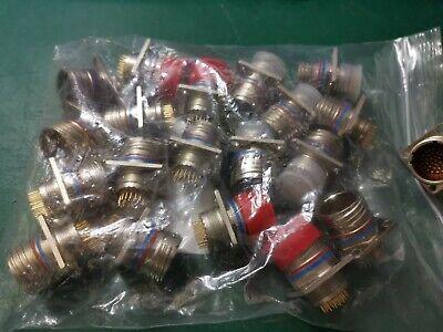 DEUTSCH  26 gold pin NEW Pair military grade circular connectors