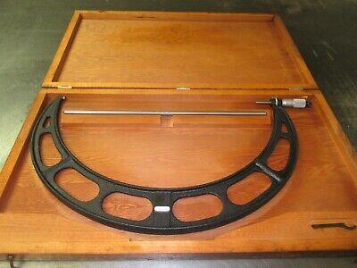 Used Starrett 17-18 436 Outside Micrometer 17 Standard Wrench Wooden Box