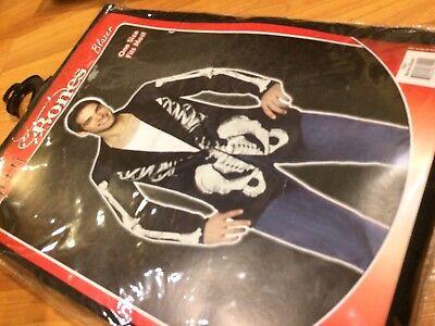 Bones Blazer Black Jacket Skeleton Fancy Dress Up Halloween Party Adult Costume