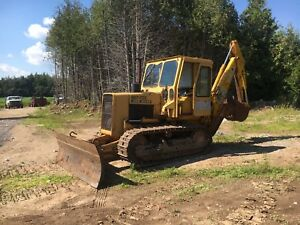 John Deere 550 Dozer With Backhoe Attachment