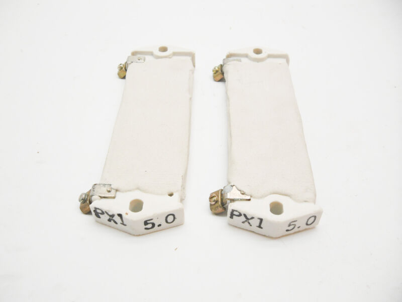 NEW LOT OF 2 SQUARE D PX1 5.0 CERAMIC  RESISTOR FT87 0179