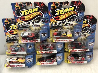 Team Hot Wheels High Speed Wheels 8 Car Set pro stock camaro,bone shaker plus
