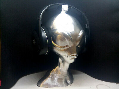 Alien Head Headphone Stand! Headset Holder Rack, Grey Area 51 Extraterrestrial  for sale  Shipping to India