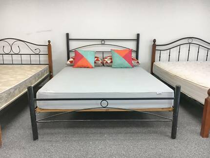 TODAY DELIVERY MODERN Queen bed & COMFORTABLE mattress QUICKSALE