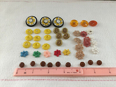 Vintage Plastic Glass Sewing Buttons Shank Sew Through Variety of Colors